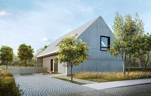 dom z dachem dwuspadowym, Wrocław